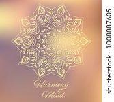 hand drawn mandala design... | Shutterstock .eps vector #1008887605