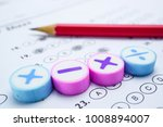 answer sheets with pencil... | Shutterstock . vector #1008894007