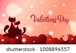 valentines day greeting card...   Shutterstock .eps vector #1008896557