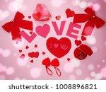 greeting card love valentine's... | Shutterstock . vector #1008896821