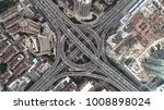 aerial view of highway and... | Shutterstock . vector #1008898024