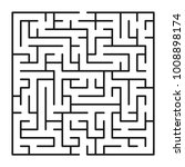 abstract maze   labyrinth with... | Shutterstock .eps vector #1008898174