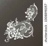 lace ornate element. vector... | Shutterstock .eps vector #1008898357