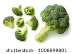 fresh broccoli isolated on... | Shutterstock . vector #1008898801