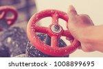 turn on the water valve... | Shutterstock . vector #1008899695