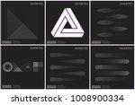 set 6 universal halftone...   Shutterstock .eps vector #1008900334