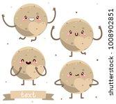 cute pluto  character set ...   Shutterstock .eps vector #1008902851