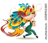 chinese lunar new year lion... | Shutterstock .eps vector #1008903385