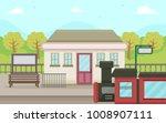 Illustration Of A Rural Train...