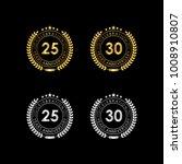 25 30 years anniversary... | Shutterstock .eps vector #1008910807