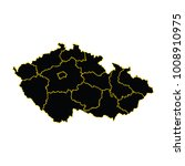 map of czech republic  high... | Shutterstock .eps vector #1008910975