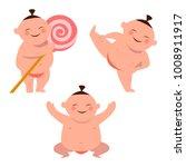 cute baby sumo. character set   Shutterstock .eps vector #1008911917
