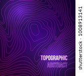 topographic map colorful... | Shutterstock .eps vector #1008913141