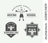 set of vintage boxing and... | Shutterstock . vector #1008915859