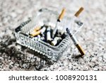close up image of glass ashtray ... | Shutterstock . vector #1008920131