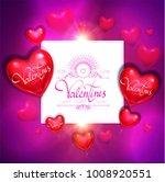 happy valentine's day card... | Shutterstock .eps vector #1008920551