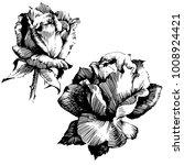 wild flowers roses isolated.... | Shutterstock .eps vector #1008924421