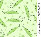 seamless watercolor pea pattern.... | Shutterstock .eps vector #1008926011