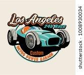 vector classic race car... | Shutterstock .eps vector #1008930034
