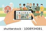 multi ethic group of farmers... | Shutterstock .eps vector #1008934081