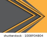 abstract gray yellow arrow... | Shutterstock .eps vector #1008934804