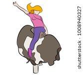 an image of a girl riding a... | Shutterstock .eps vector #1008940327