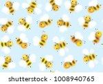 vector seamless pattern of cute ... | Shutterstock .eps vector #1008940765