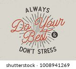 do your best typography concept.... | Shutterstock .eps vector #1008941269