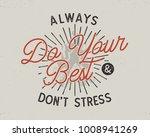 do your best typography concept....   Shutterstock .eps vector #1008941269