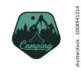summer night camping travel...   Shutterstock .eps vector #1008941314