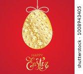 diamond easter egg decoration.... | Shutterstock .eps vector #1008943405