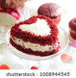 Homemade heart shaped red...