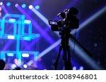 tv camera in a concert hall... | Shutterstock . vector #1008946801