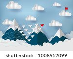paper plane is competing with... | Shutterstock .eps vector #1008952099