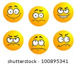 expression icons and smiles.... | Shutterstock . vector #100895341