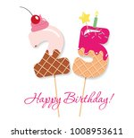 happy birthday card. festive... | Shutterstock .eps vector #1008953611