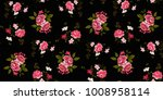 seamless floral pattern in... | Shutterstock .eps vector #1008958114