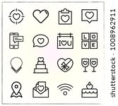 valentine's day line icons set... | Shutterstock .eps vector #1008962911