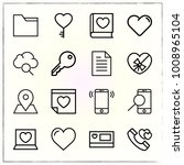 valentine's day line icons set... | Shutterstock .eps vector #1008965104