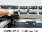 operator working cut and... | Shutterstock . vector #1008967651