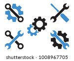 black and blue set of tools... | Shutterstock .eps vector #1008967705