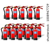 set of fire extinguishers... | Shutterstock . vector #1008967729