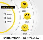 yellow info template with... | Shutterstock .eps vector #1008969067