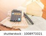 paper currency calculator... | Shutterstock . vector #1008973321