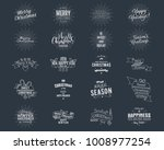 big christmas typography quotes ... | Shutterstock . vector #1008977254