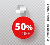 sale half off point tag. white... | Shutterstock .eps vector #1008978085