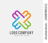 m logo abstract with colorful... | Shutterstock .eps vector #1008980221