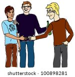 party  meeting  illustration | Shutterstock . vector #100898281