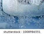 Frost Background Blue Frozen...