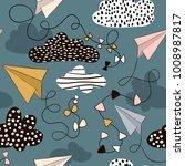 seamless pattern paper... | Shutterstock .eps vector #1008987817